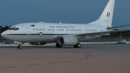 TRH The Prince of Wales and the Duchess of Cornwall's flight has arrived at Sydney Airport.