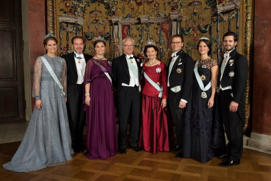 December 2015. The Swedish Royal Family. HRH Princess Madeleine; Mr Christopher O'Neill; HRH Crown Princess Victoria; HM King Carl XVI Gustaf; HM Queen Silvia; HRH Prince Daniel; HRH Princess Sofia; HRH Prince Carl Philip