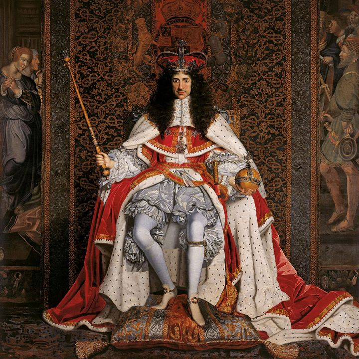 Coronation portrait: Charles II was crowned atWestminster Abbeyon 23 April 1661. Charles II by John Michael Wright, c 1661-1662