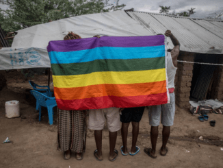 LGBT refugees at Kakuma Camp. (Photo courtesy of Thomson Reuters Foundation)