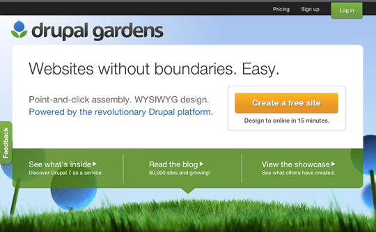 Drupal Gardens Review managed Drupal hosting by Acquia