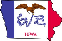 Flag-map-of-Iowa