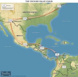 Cocaine route value