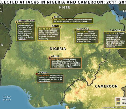 Attacks in Nigeria and Cameroon 2011 to 2013