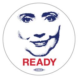 Creepy Mommie Dearest Ready for Hillary Button