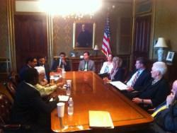 Bin Bayyah Photo of June 13 White House Meeting