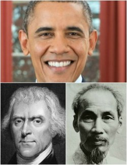 Obama Ho and Jefferson