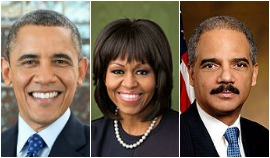 Barack and Michelle Obama and AG Holder