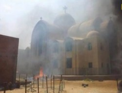 Coptic Churches set afire by the Muslim Brotherhood
