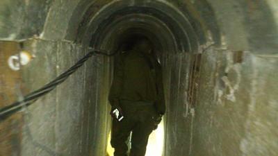 Yaakov Lappin Photo Gaza Tunnel Mile Long 65 feet deep
