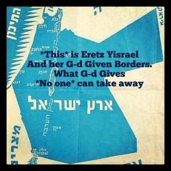 Eretz Yisrael and Borders is Israel