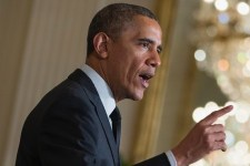 Obama finger pointing