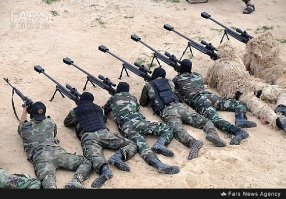 Islamic Jihad militants some in camouflage undergo training in firing Iranian weapons
