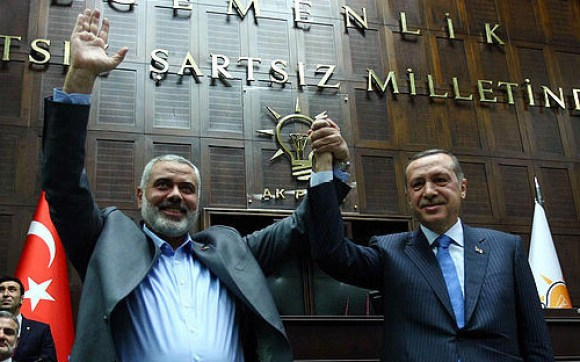 Turkey Prime Minister Erdogan Welcomes Hamas Leader Haniyeh