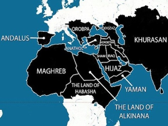 ISIS Map of Caliphate in 5 Years