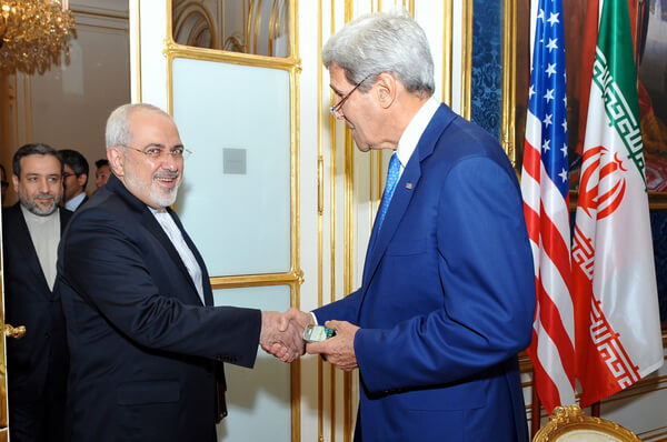 US Secretary of State Kerry and Iranian Foreign Minister Zarif