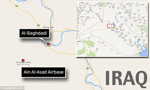 4 Al-Baghdadi is only nine miles away from the air base where Iraqi officials had to call for reinforcements
