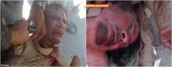 Gaddafi shot