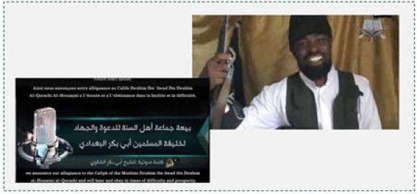 The pledge of allegiance to ISIS by the leader of Boko Haram