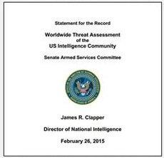 Worldwide Threat Assessment of the US Intelligence Community