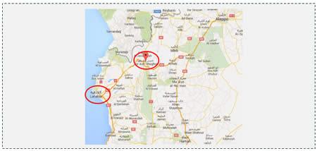 1 The city of Jisr al-Shughur a stronghold of the Syrian regime