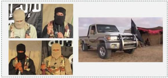 2 Photos from the video of ISIS branch in the Sinai Peninsula