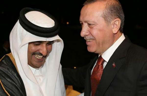 Qatari Emir Sheikh Tamim Aal Thani and Turkish President Recep Tayyip Erdogan