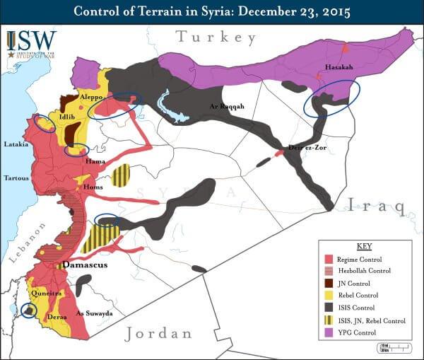 Syria terrain control dec 2015