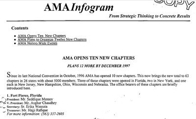 American Muslim Alliance AMA infogram