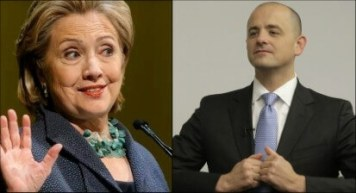 Hillary Clinton (left) has padded her lead atop the Middle East Forum's list of the top ten recipients of Islamist money for 2015-2016, while Evan McMullin (right) has vaulted to sixth place.