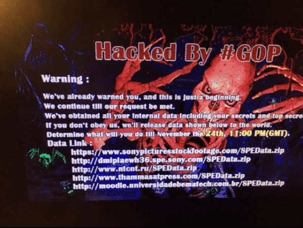 Sony Hacked by the #GOP