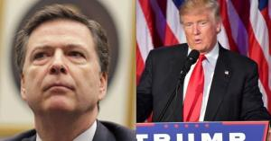 The Real Russia-gate Scandal - Comey (left) Trump (right)