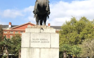 Statue of Andrew Jackson in Jackson Square, New Orleans