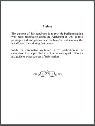 Parliamentary Handbook 2