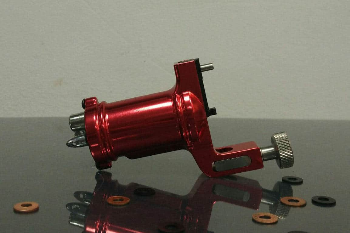 red slide rotary tattoo machine