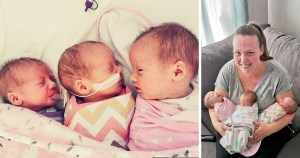 Triplets thriving despite doctors pushing 'selective termination' on parents