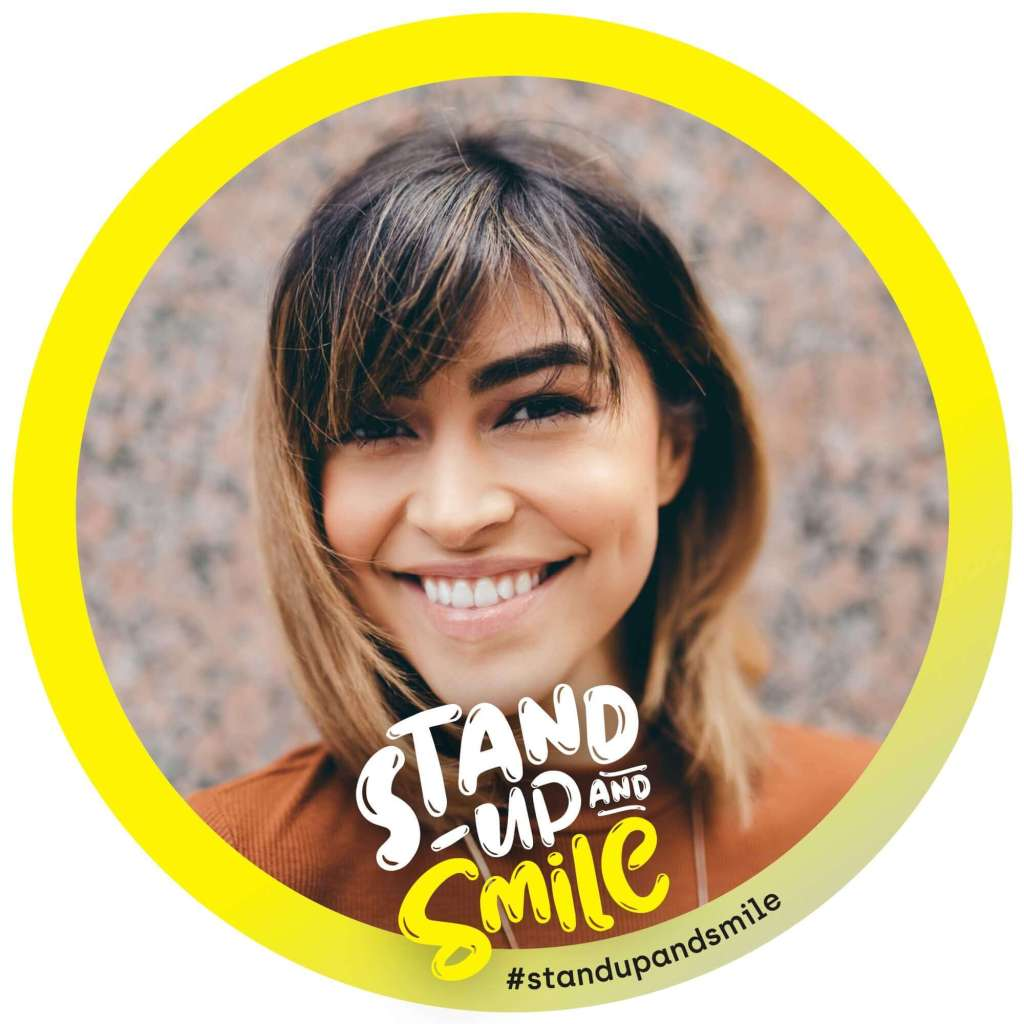 Stand Up and Smile FB Frame
