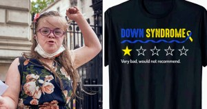 Woman with Down's syndrome criticises Amazon over offensive clothing