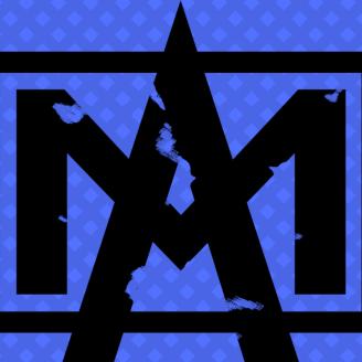 Logo on blue backgroud