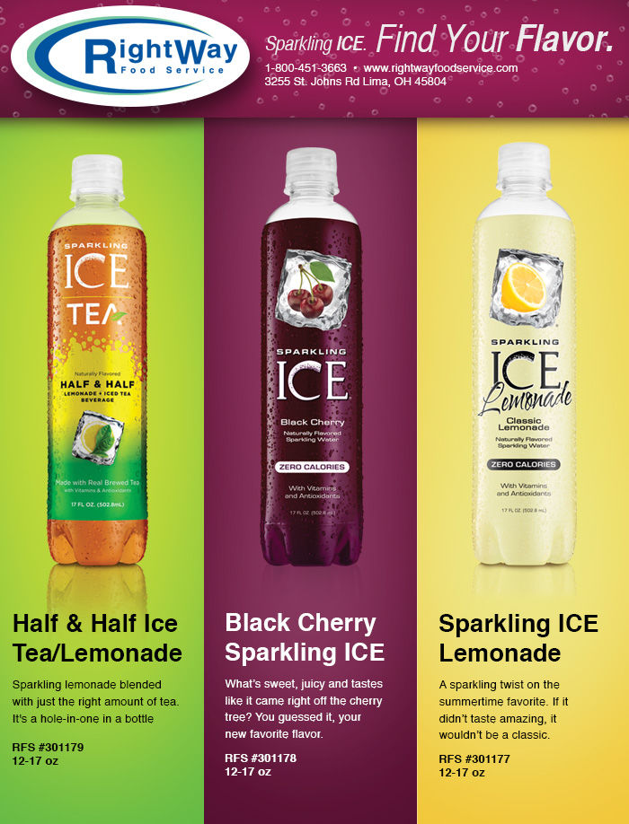 916 Sparkling Ice Flavors