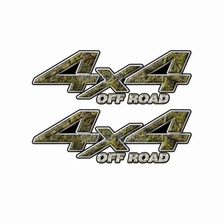 4X4 OFF ROAD Marshland Camouflage Bedside Truck Decals 2 Pack (ka) 1