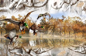 Mallards Obliteration Buck Snow Camo Tailgate Wrap