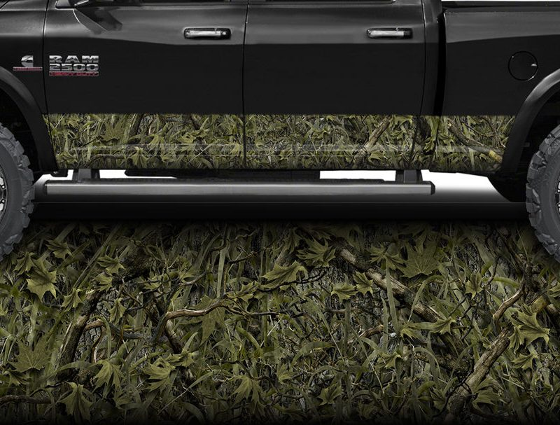 Marsh Camo Rocker Panel Wrap