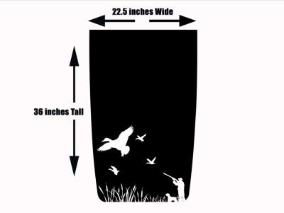 Duck Hunting 2 Jeep Hood Blackout Die Cut Decal