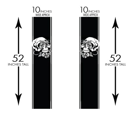 Truck Band Skull Roses Measurements