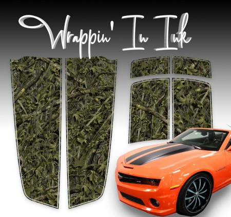 Marshland Camo Racing Stripes for the 2010-2015 Chevy Camaro