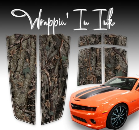 Oak Camo Camaro Stripes 2010 2011 2012 2013 2014 2015 Camaro