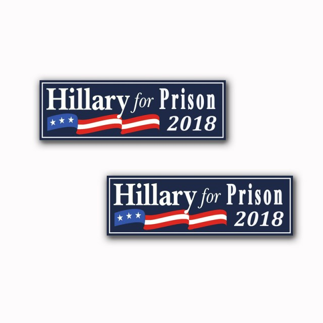 Hillary For Prison Stickers