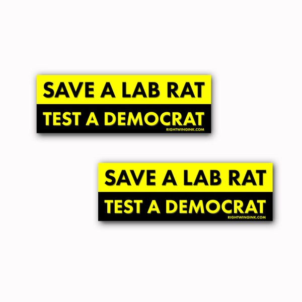 Save A Lab Rat Stickers