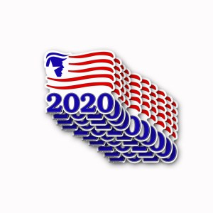 TRUMP 2020 Stickers Flag 10 Pack